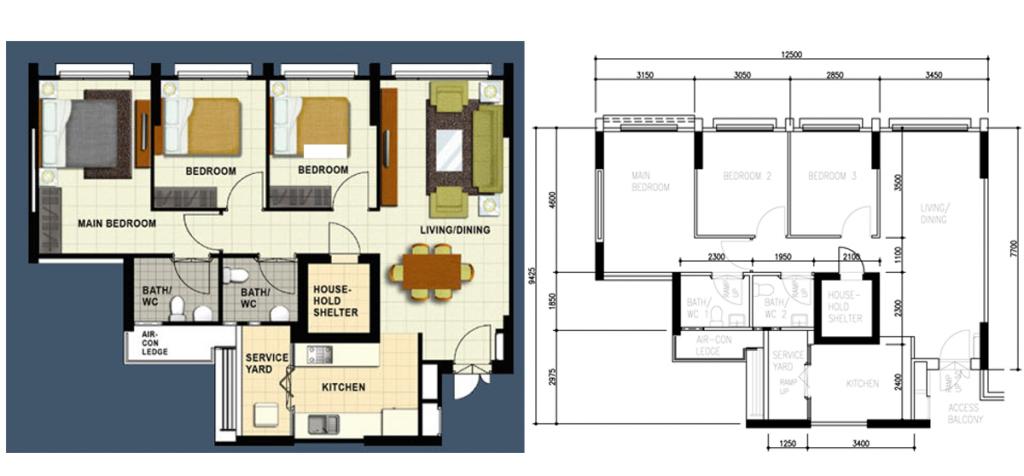 hdb floor-plan