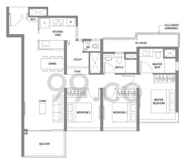 Twin vew floorplan